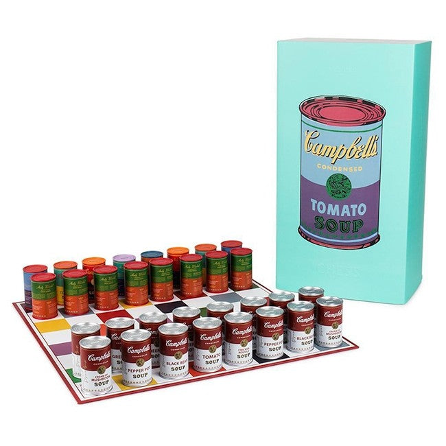 Campbell's Soup Can Chess Set by Andy Warhol