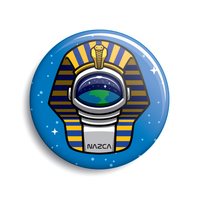 Pharaoh Astronaut ancient aliens button by Monsterologist