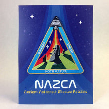 Nazca Ancient Astronaut Space Mission Patches Display Card Easter Island Outpost