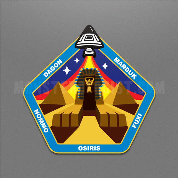 Sphinx Central ancient astronaut insignia sticker by Monsterologist