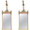 Pair of Eglomise Federal Pier Mirrors