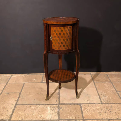 French Marquetry Cylinder Table