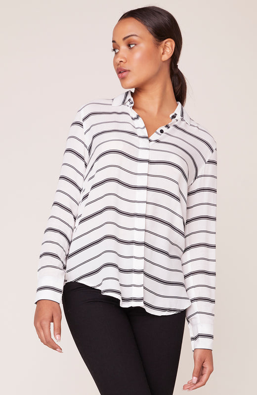 Behind the Lines Stripe Print Shirt