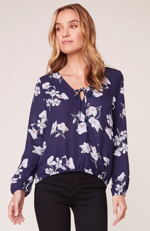 Falling For It Floral Top