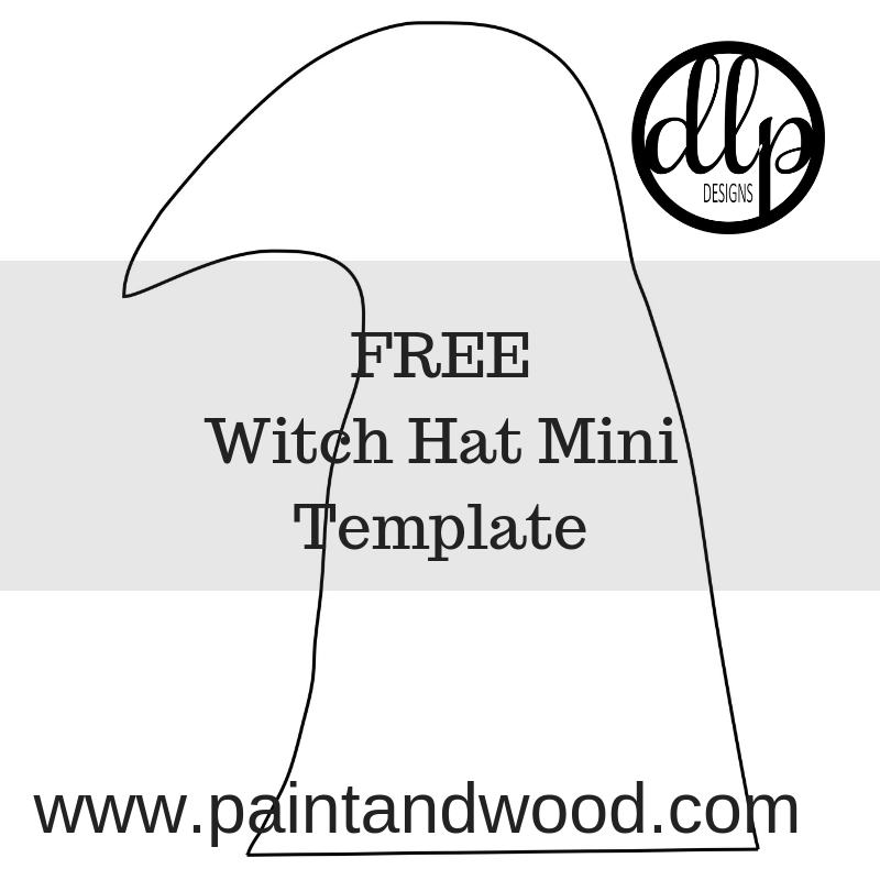 Mini Witch Hat Template