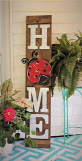 HOME Porch Sign Letters with 1 Attachment - Unfinished