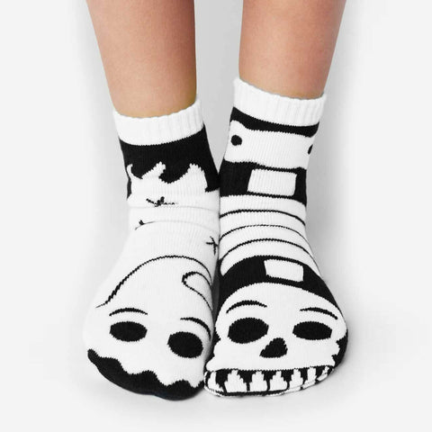 Pals Socks - Ghost & Skeleton {GLOW IN THE DARK} - Kids collectible mismatched socks