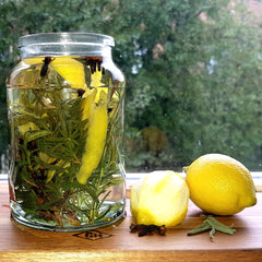 herbal vinegar for natural cleaning