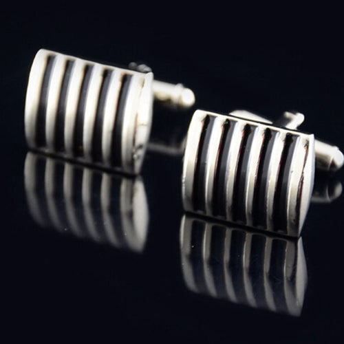 Mens Wedding Party Gift CuffLink Drip Paint Color Stripes Cufflinks