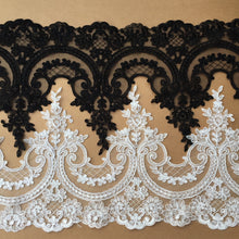 3Yards/lot 26cm European Embroidery Lace  RS825
