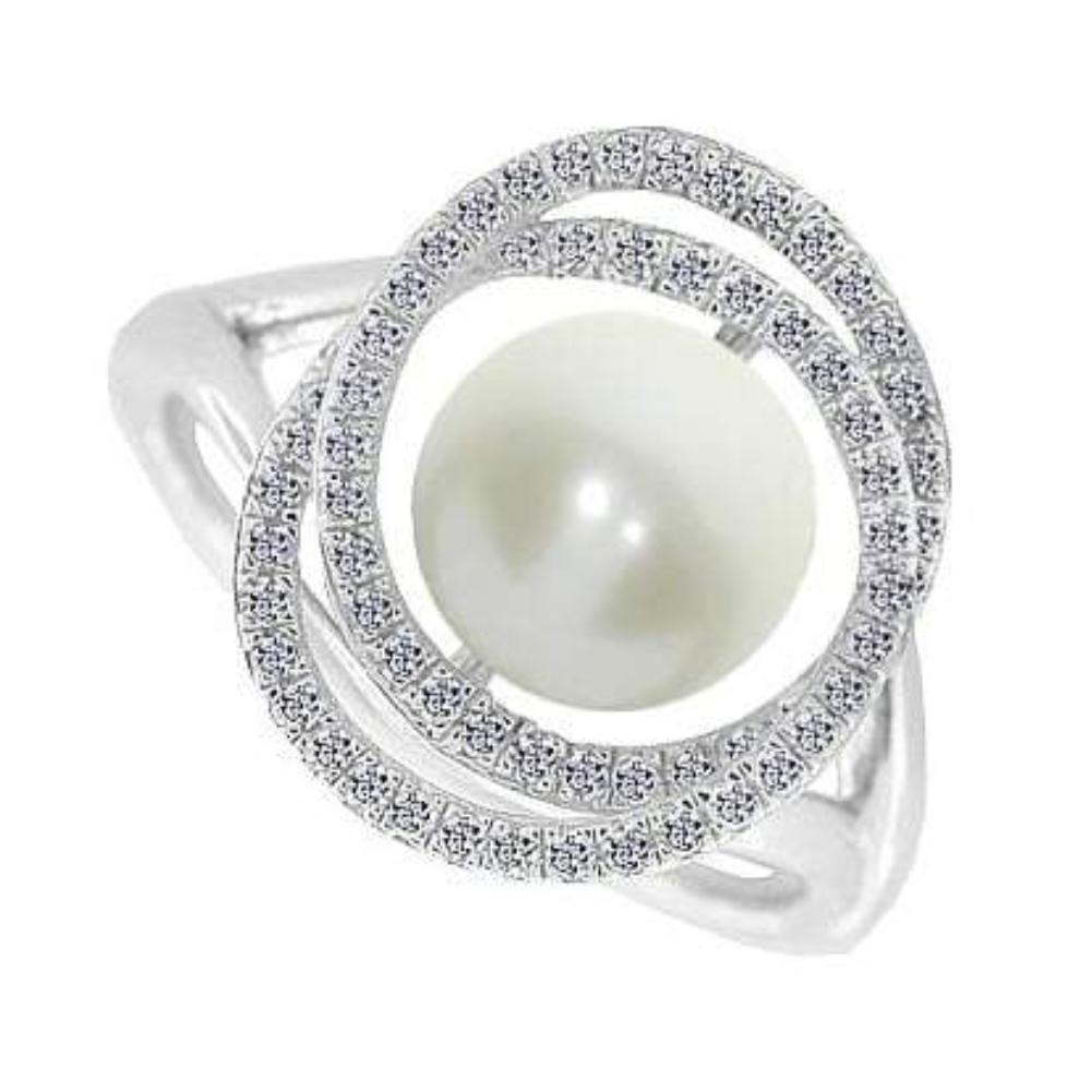 Amore Ring Amore Silver and pearl swirly pearly ring