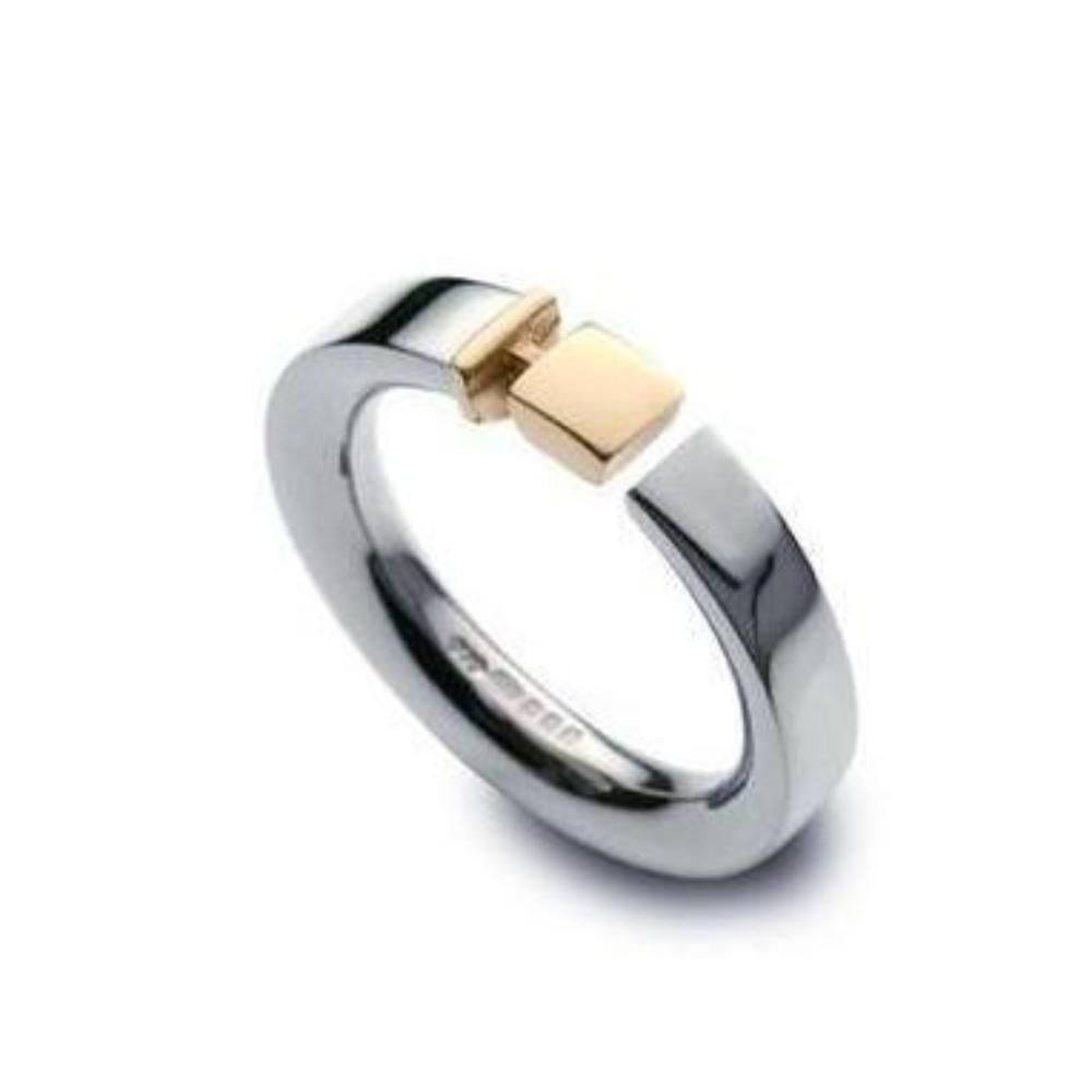 Church House Ring Church House Silver gold square open ring