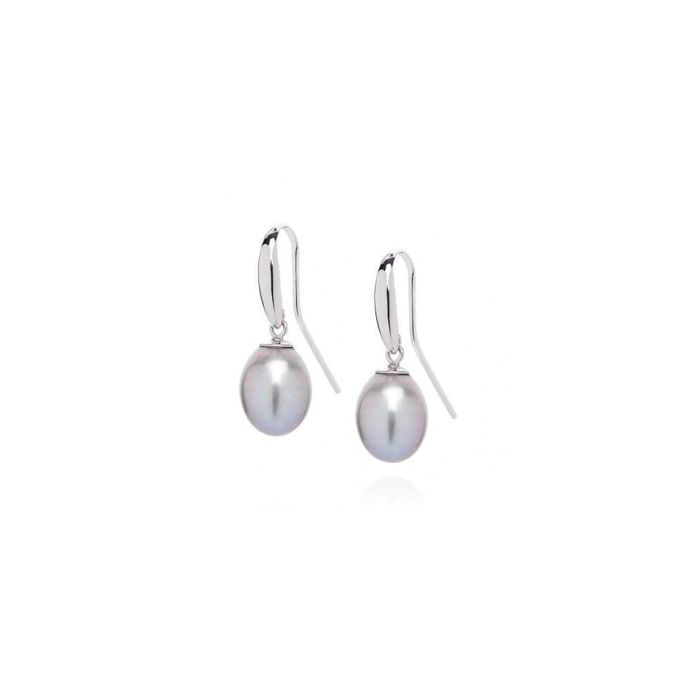 Claudia Bradby Earrings Claudia Bradby Silver grey pearl hook earrings