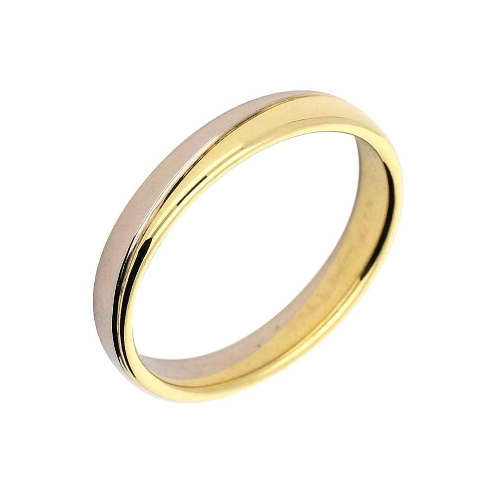 Furrer Jacot Ring Furrer Jacot 18ct yellow and white gold band with wavy groove in the middle
