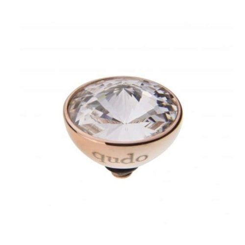 Qudo Composable Rings Ring Qudo rose gold crystal 11.5mm bottone ring top