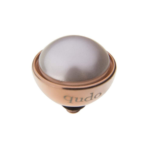 Qudo Composable Rings Ring Qudo rose gold white pearl 11.5mm bottone ring top