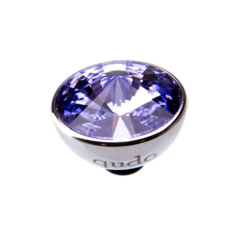 Qudo Composable Rings Ring Qudo Steel provence lavender swarovski 11.5mm bottone ring top