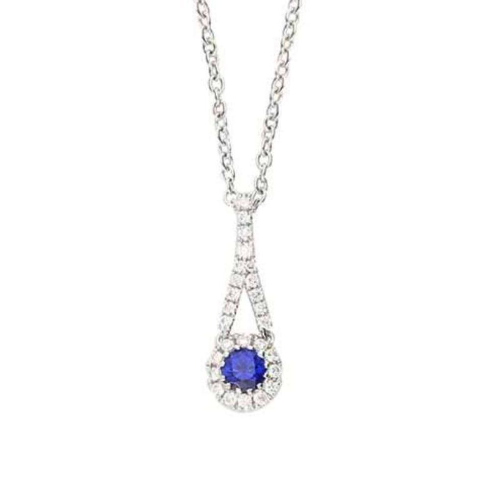 Rock Lobster Pendant 18ct white gold blue sapphire and diamond pendant