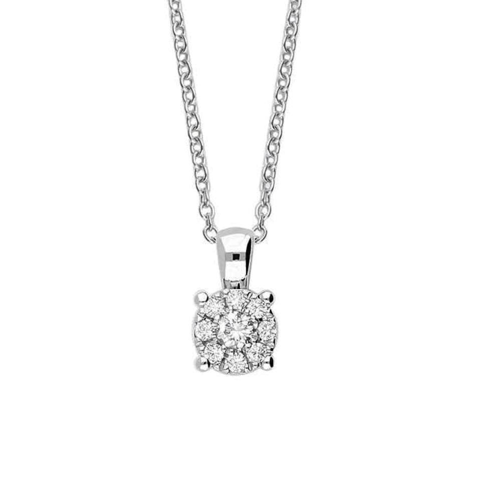 Rock Lobster Pendant 18ct white gold round diamond cluster pendant