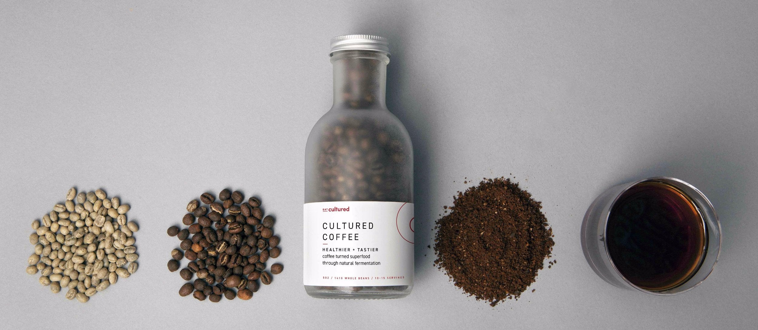 Cultured Coffee Bottle - Whole Beans 5oz
