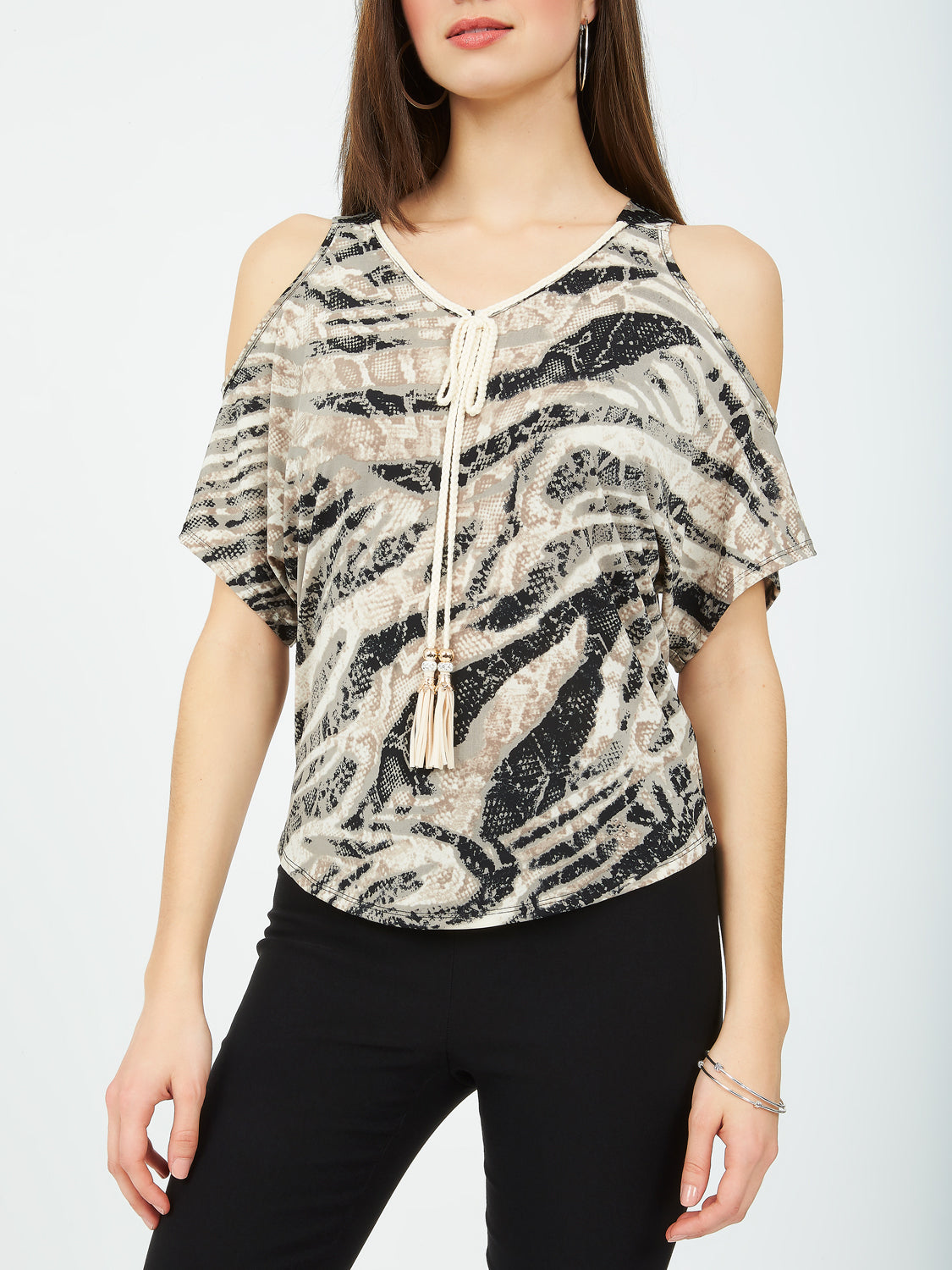 Cold-Shoulder Dolman Sleeve Top