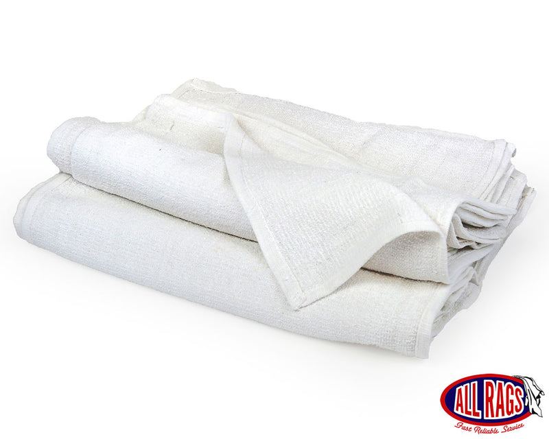 New White Cotton Terry Bar Mop Towel