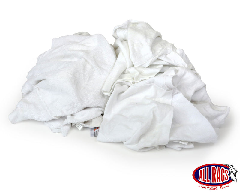 Recycled White Sweatshirt Rags