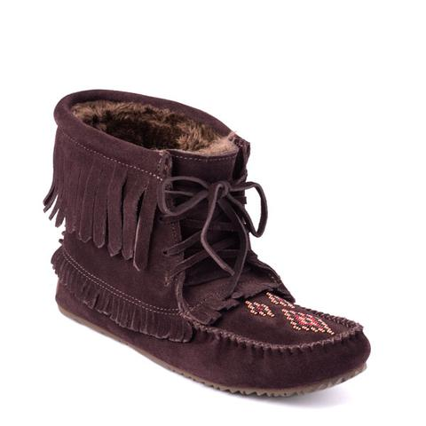 Harvester Suede Lined Moccasin - Dark Brown