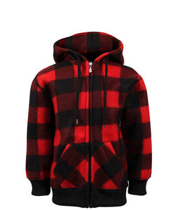 Kids Zip Up Plaid Jacket