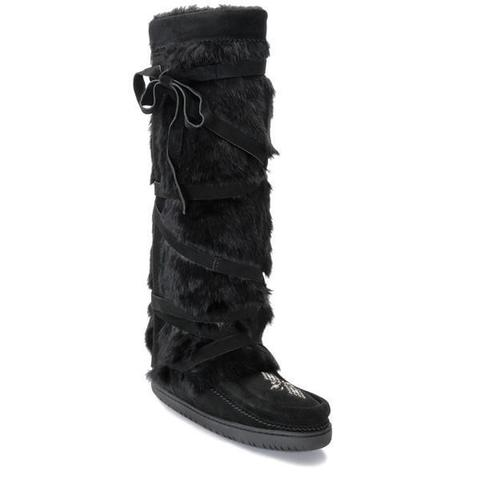 Tall Wrap Mukluk - Black