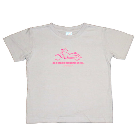 Just As Soon As My Legs Can Reach The Pegs (pink print) - Toddler T-Shirt