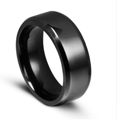 titanium brushed black ring