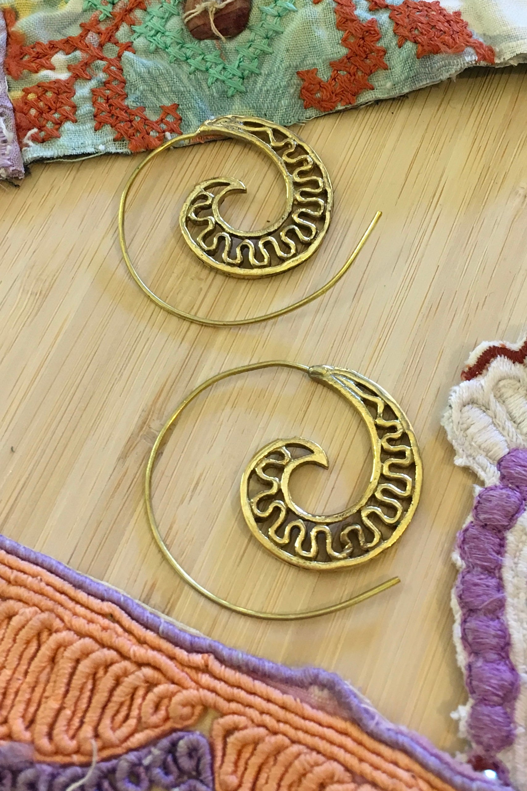 Earrings Dreamy Spiral Spots or Squiggles