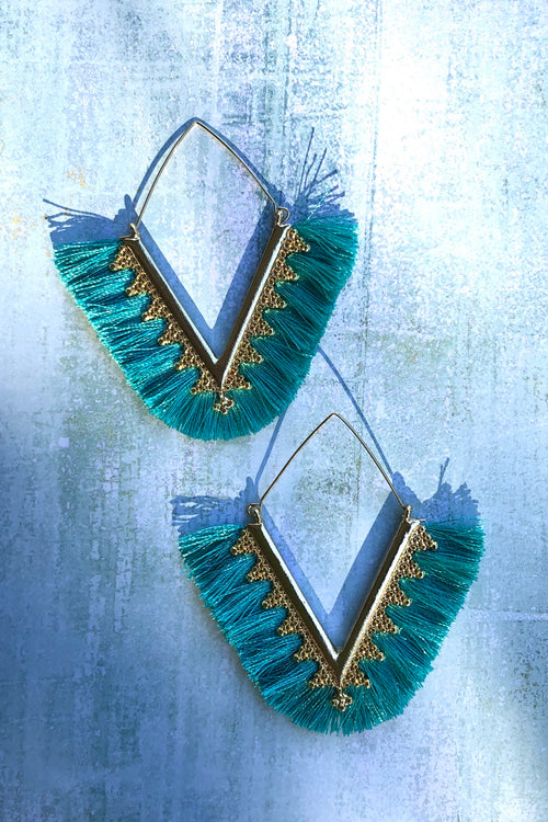 Earrings Harvest Gold Turquoise