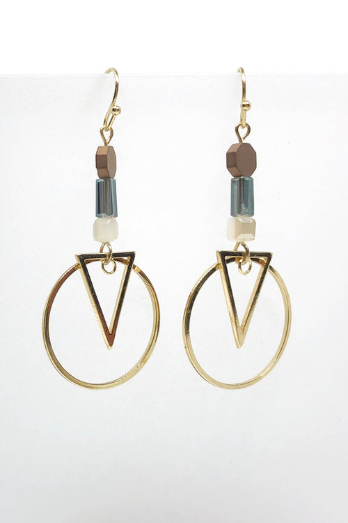Earrings Meta Triangle Hoops