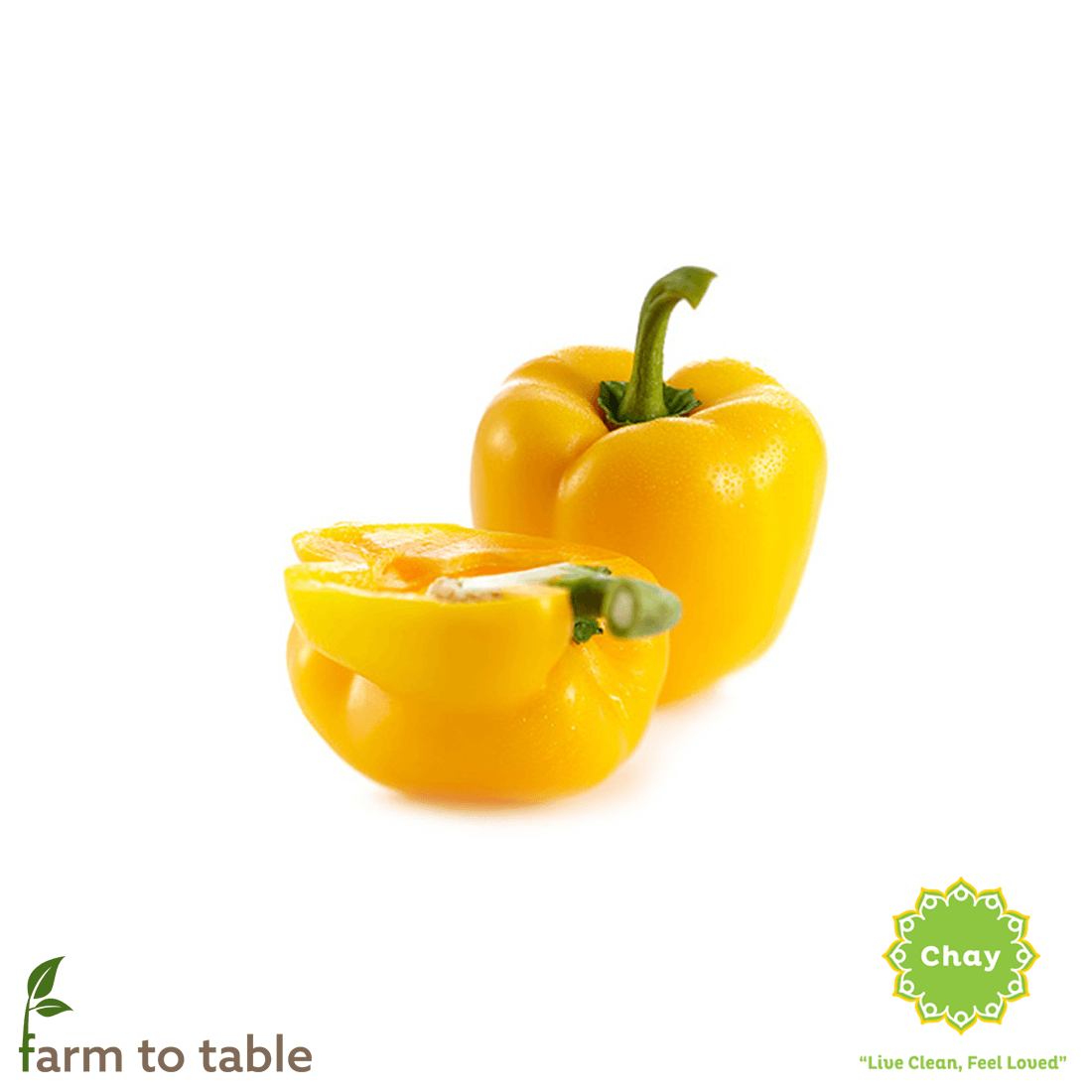 Yellow bell pepper 0,2 - 0,3 kg en House of Chay
