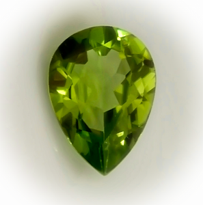 Peridot, Deep Green, Pear Cut, Superb Luster, VVS to VS1