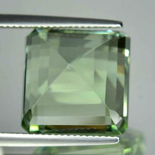 Prasiolite 18.33 ct, VVS, Light Basil Green, Emerald Cut, Brazil
