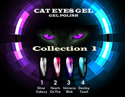 Cat Eyes Gel Collection 1 - The Nail Art Connection by Tess Walters - Tess Nails.com