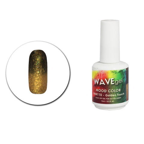 Golden Touch Mood Gel Polish WM110 - The Nail Art Connection by Tess Walters - Tess Nails.com