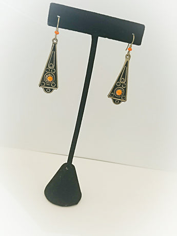 Moroccan Inspiration Triangle Earrings - Vedazzling Accessories