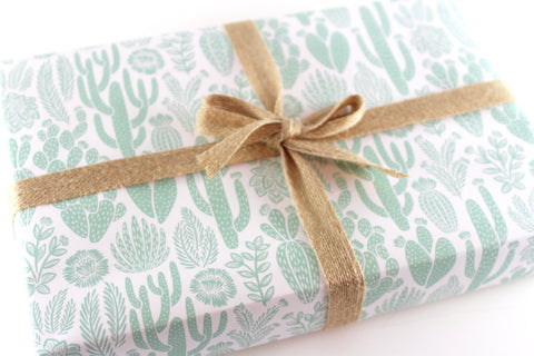 Cactus Gift Wrap - 3 Sheets