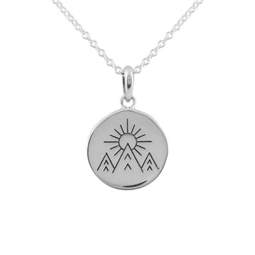Under The Moon Pases Necklace - Silver