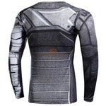 Captain America 3 Civil War Winter Soldier Long Sleeves T-Shirt Shirts