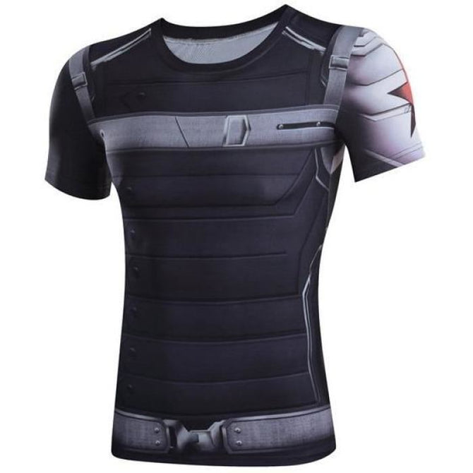 Winter Soldier Milk Silk Short Sleeves T-Shirt Cosplay Costume Shirts