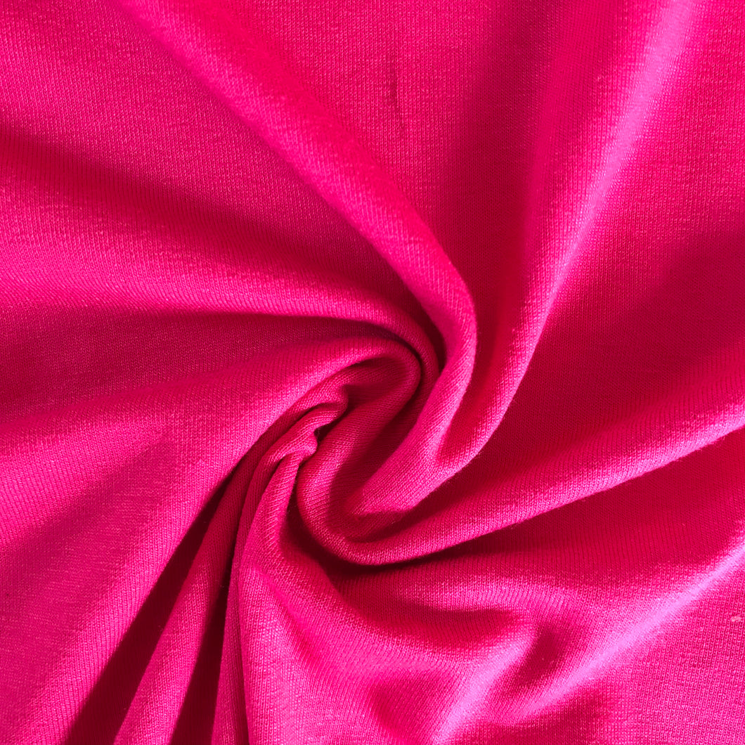 Hot Pink Viscose Jersey from Stitchy Bee