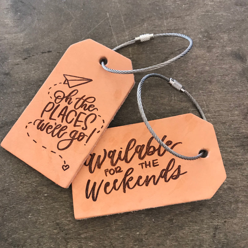 bobo leather luggage tags