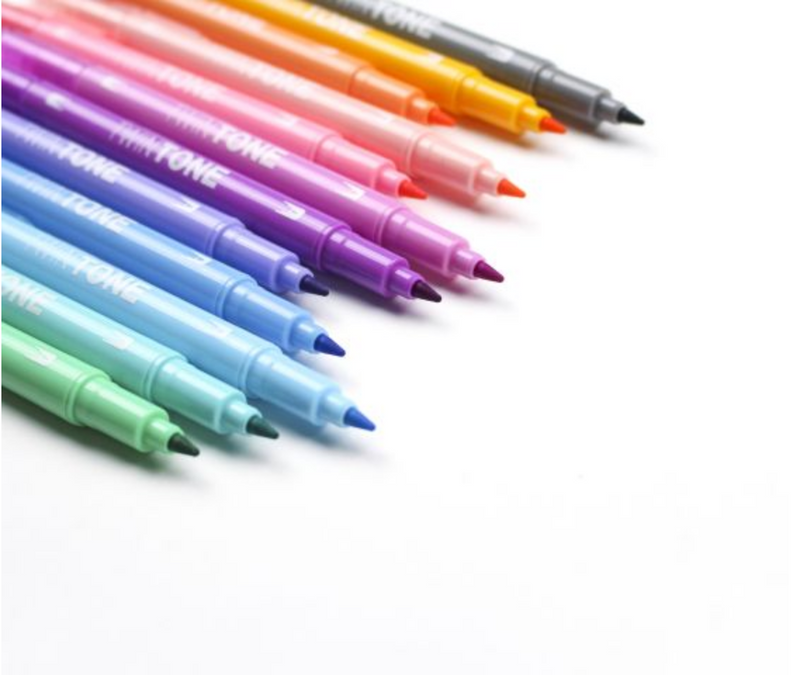 Tombow TwinTone Pastel Pack- color swatches