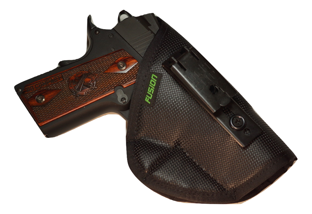 S&W inside the waistband iwb holster with a belt clip.
