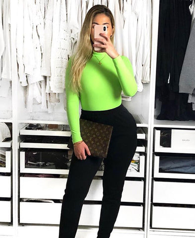 All Over You | Neon Green Bodysuit